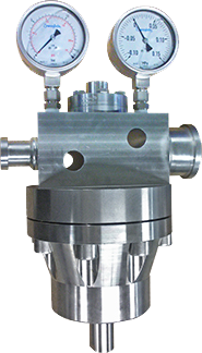 Pressure reducers for low-pressure and high-pressure