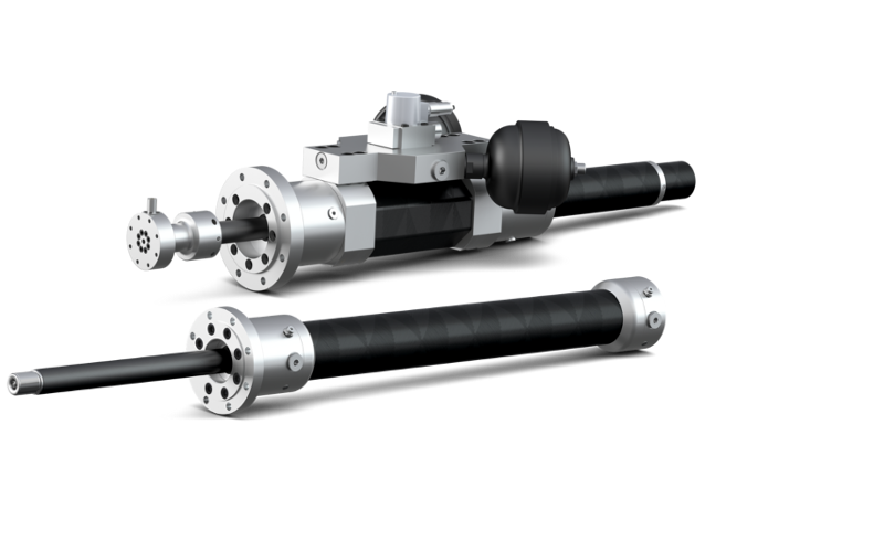 Hänchen produces lightweight hydraulic cylinders with H-CFRP® piston rods and cylinder tubes in small batches. In mobile and stationary lightweight construction, these reduce the weight by up to 80 %, and enable corrosion-free or non-magnetic designs.